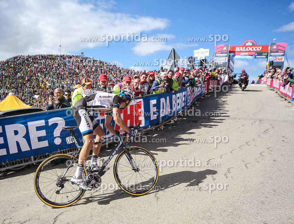 31.05.2014, Monte Zoncolan, ITA, Giro d Italia 2014, 20. Etappe, Mantiago nach Monte Zoncolan, im Bild Georg Preidler, AUT (#176, Team Giant-Shimano) // Georg Preidler, AUT (#176, Team Giant-Shimano) during Giro d' Italia 2014 at Stage 20 from Mantiago to Monte Zoncolan, Italy on 2014/05/31. EXPA Pictures © 2014, PhotoCredit: EXPA/ M. Huber