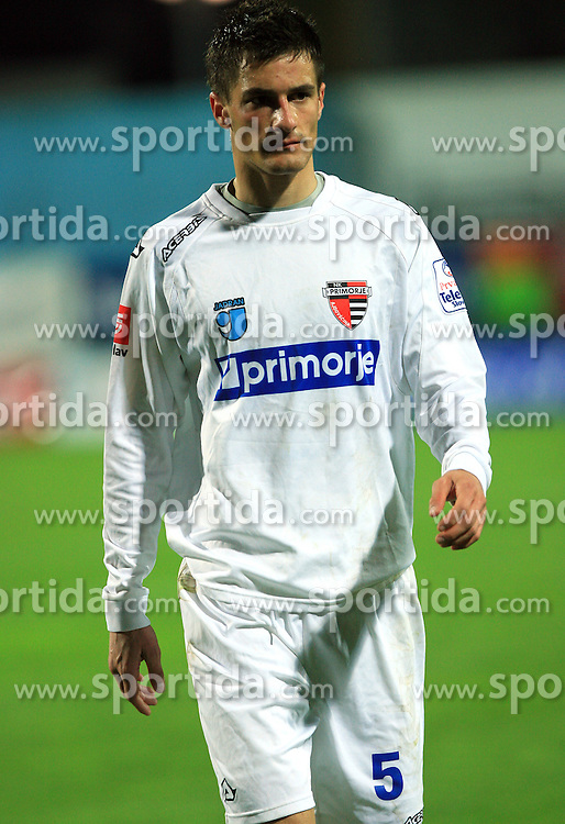 Miroslav Cvojanovic of Primorje at 27th Round of Slovenian First League football match between ND Hit Gorica and NK Primorje Ajdovscina in Sports park Nova Gorica, on April 8, 2009, in Nova Gorica, Slovenia. (Photo by Vid Ponikvar / Sportida)