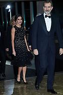 King Felipe VI of Spain, Queen Letizia of Spain attends the 'Mariano de Cavia', 'Luca de Tena' and 'Mingote' Journalism Awards Dinner at Casa de ABC on December 17, 2018 in Madrid, Spain