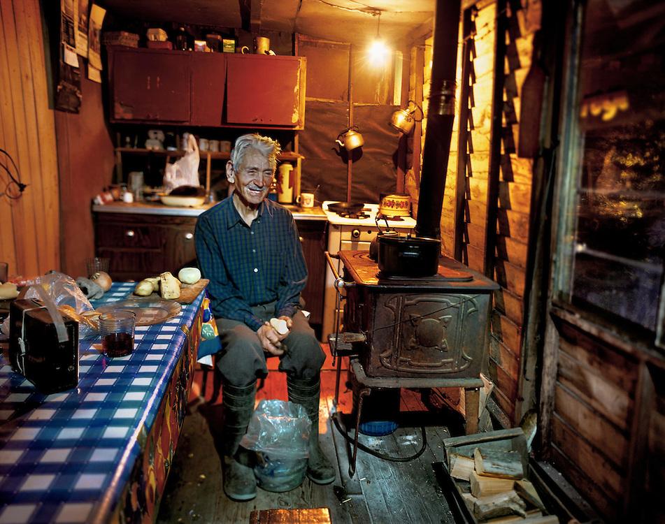 Retrato de José Castel, quien fuera capitán de la lancha escolar por más de cuarenta años