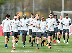 11.04.2018, Taxham, Salzburg, AUT, UEFA EL, FC Salzburg vs SS Lazio Roma, Viertelfinale, Rueckspiel, Abschlusstraining FC Salzburg, im Bild die Mannschaft des FC Salzburg // the team of FC Salzburg during practice session of FC Salzburg prior to the UEFA Europa League Quarterfinals, 2nd Leg Match between FC Salzburg and SS Lazio Roma at Taxham in Salzburg, Austria on 2018/04/11. EXPA Pictures © 2018, PhotoCredit: EXPA/ Stefan Adelsberger