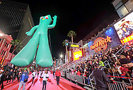 Giant balloon &quot;Gumby&quot; moves along Hollywood Boulevard during the 85th Annual Hollywood Christmas Parade in Los Angeles on Sunday December 27, 2016. (Photo by Ringo Chiu/PHOTOFORMULA.com)<br /> <br /> Usage Notes: This content is intended for editorial use only. For other uses, additional clearances may be required.
