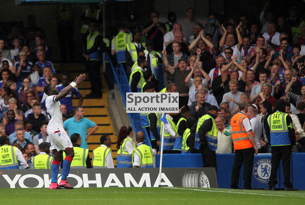 Bakary Sako celebrates During Chelsea vs Crystal Palace on Saturday the 29th August 2015