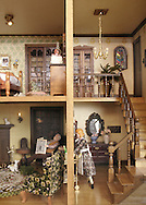 A closer view of the dollhouse that Dennis made for his mother in 1979, and will be passing it on to his daughter Lisa and her daughters Olivia and Scarlet.