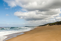 Long Sandy beaches in the iSimangaliso Wetland Park and Marine Protected Area, KwaZulu Natal, South Africa