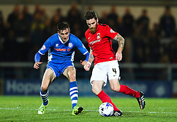 Romain Vincelot of Coventry City and Matthew Lund of Rochdale - Mandatory byline: Matt McNulty/JMP - 07966 386802 - 20/10/2015 - FOOTBALL - Gigg Lane - Rochdale, England - Rochdale v Coventry - Sky Bet League One