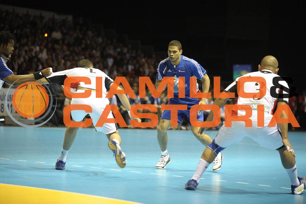 DESCRIZIONE : France Equipe de France Homme France Egypte 09/06/2010 Toulouse Zenith<br /> GIOCATORE : Narcisse Daniel<br /> SQUADRA : France<br /> EVENTO : France Egypte Amical<br /> GARA : France Egypte<br /> DATA : 09/06/2010<br /> CATEGORIA : Handball France Homme <br /> SPORT : HandBall<br /> AUTORE : JF Molliere par Agenzia Ciamillo-Castoria <br /> Galleria : France Hand Homme 2009/2010  <br /> Fotonotizia :  France Equipe de France Homme France Egypte 09/06/2010 Toulouse Zenith<br /> Predefinita :