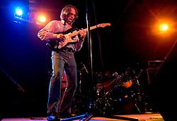 10, December, 05. <br /> Legendary guitarist Sonny Landreth performs a set at Southport Hall in Uptown New Orleans. <br /> Photo; ©Charlie Varley/varleypix.com