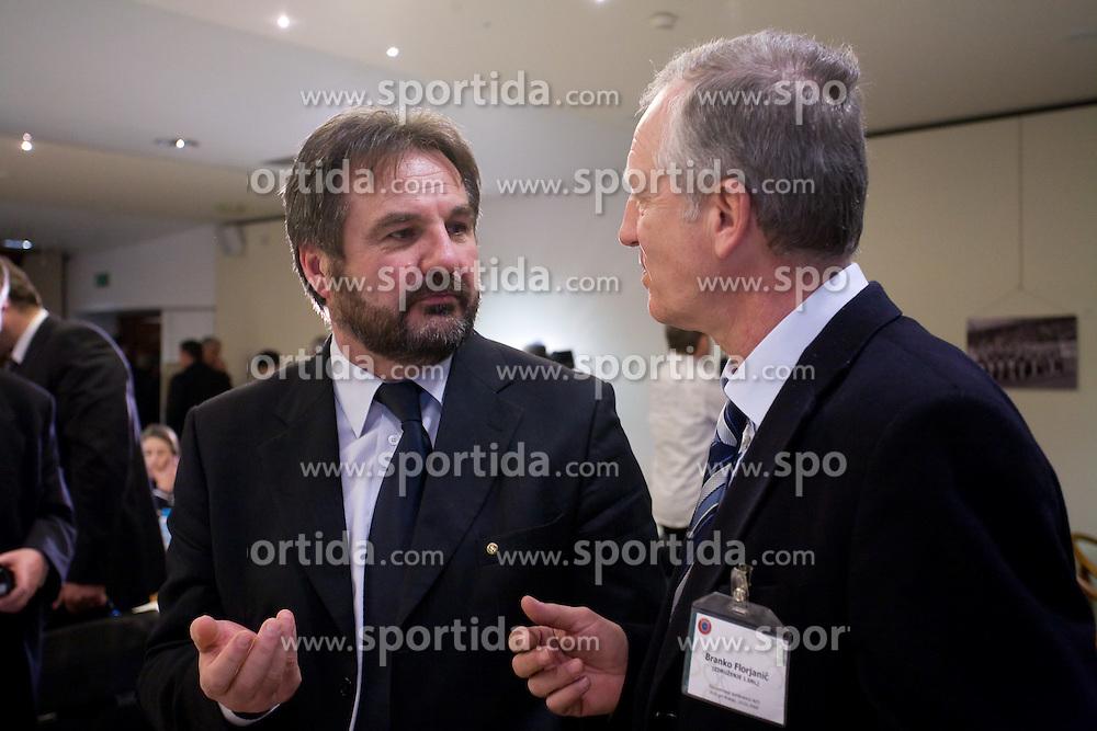 Stane Orazem and Branko Florjanic at Management conference of Slovenian Football Federation, on March 10, 2009, in Hotel Kokra, Brdo pri Kranju, Slovenia. (Photo by Vid Ponikvar / Sportida)