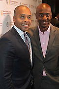 NEW YORK, NY-NOVEMBER 18: (L-R) Dr. Khalil G. Muhammad, Director, The Schomburg Center and Stephen Hill, President of Programming, BET Networks attend the 5th Annual W.E.E.N Awards held at the The Schomburg Center for Research in Black Culture on November 18, 2015 in Harlem, New York City.  (Photo by Terrence Jennings/terrencejennings.com)