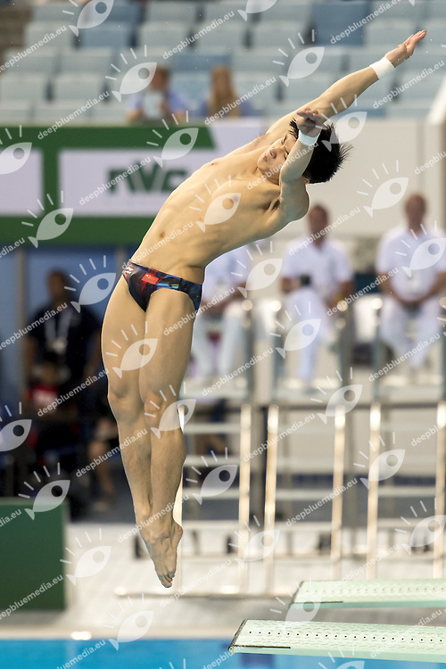 CAO Yuan CHN<br /> FINA/NVD Diving World Series - 3 m. sprinboard Women<br /> Hamdan Bin Rashid Bin Mohammed Sport Complex<br /> Dubai 19 - 21  March 2015<br /> Day 2 - March 20 th <br /> Photo Giorgio Scala / Deepbluemedia