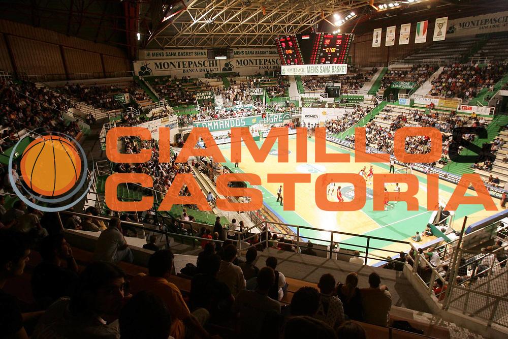 DESCRIZIONE : Siena Precampionato Lega A1 2006-07 Montepaschi Siena Cska Mosca <br /> GIOCATORE : Arena Palasport Palazzetto <br /> SQUADRA : Montepaschi Siena <br /> EVENTO : Precampionato Lega A1 2006-2007 <br /> GARA : Montepaschi Siena Cska Mosca <br /> DATA : 23/09/2006 <br /> CATEGORIA : <br /> SPORT : Pallacanestro <br /> AUTORE : Agenzia Ciamillo-Castoria/P.Lazzeroni