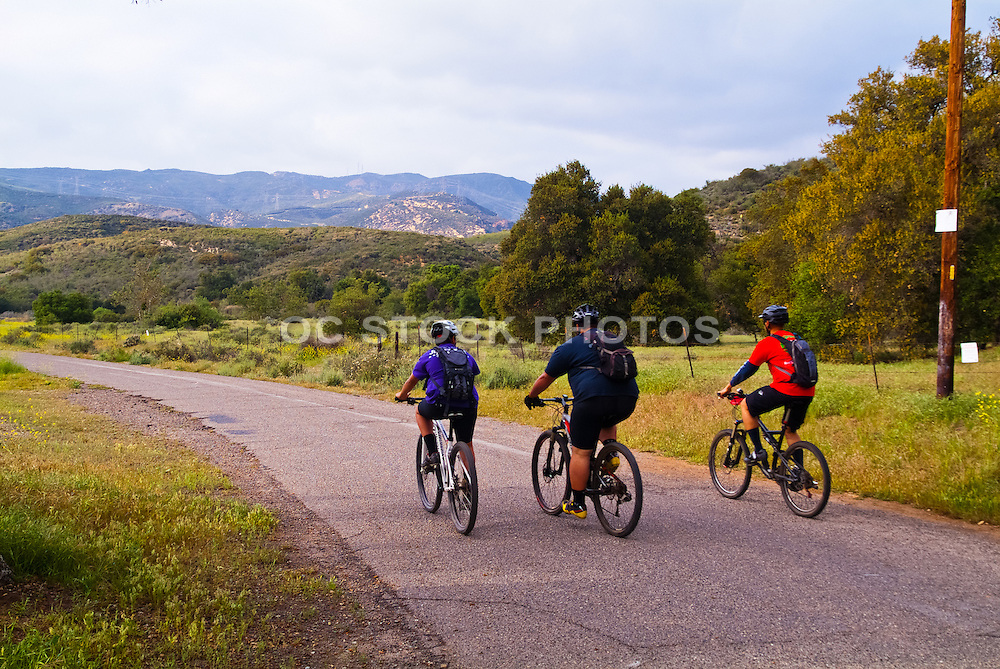 Mountain Bikers Heading into Black Star Canyon