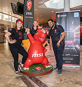 Media Markt, Utrecht. MSI Game Event. Op de foto: msi crew