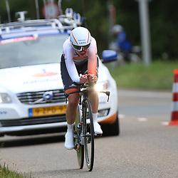 04-09-2015: Wielrennen: Ladiestour: Oosterhout OOSTERHOUT (NED) wielrennen<br />De vierde etappe was in Oosterhout een gevecht tegen het uurwerk. Roxane Kneteman
