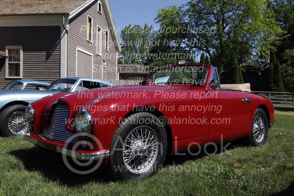 2018 Champagne British Car Festival held on Clover Lawn at David Davis Mansion in Bloomington IL<br /> <br /> 1953 Aston Martin DB2