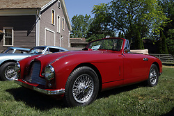 2018 Champagne British Car Festival held on Clover Lawn at David Davis Mansion in Bloomington IL<br /> <br /> 1953 Aston Martin DB2