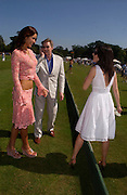 Natalya Petouchkova, John Stephen and Jamime Murray<br />. Veuve Clicquot Gold Cup Final at Cowdray Park. Midhurst. 17 July 2005. ONE TIME USE ONLY - DO NOT ARCHIVE  © Copyright Photograph by Dafydd Jones 66 Stockwell Park Rd. London SW9 0DA Tel 020 7733 0108 www.dafjones.com