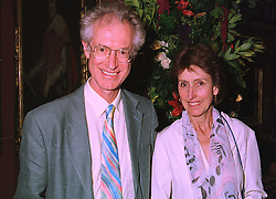 MR & MRS BAMBER GASCOIGNE he is the TV presenter, at an exhibition in London on 3rd September 1998.MJO 36