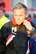 Paul Buckle during the Sky Bet League 2 match between Cheltenham Town and Oxford United at Whaddon Road, Cheltenham, England on 29 November 2014.