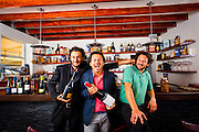 Via Verdi partners, from left:  mixologist Cristiano Vezzoli, Chef Fabrizio Carro and Chef Nicola Carro