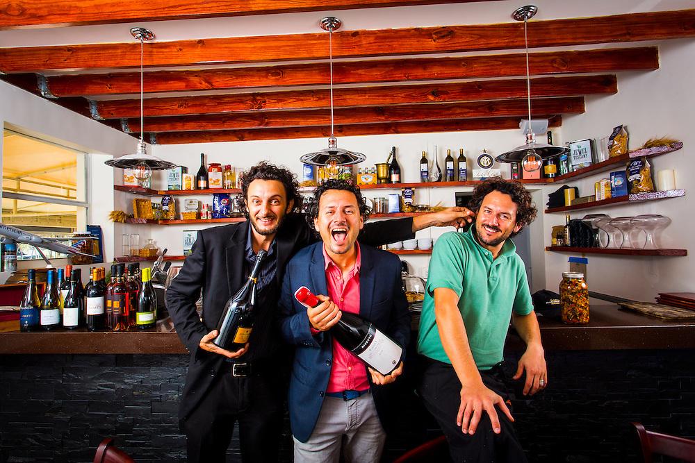 Via Verdi partners, from left:  mixologist Cristiano Vezzoli, Chef Fabrizio Carro and Chef Nicola Carro