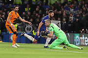 Alexandros Paschalakis of PAOK FC (31) making save during the Champions League group stage match between Chelsea and PAOK Salonica at Stamford Bridge, London, England on 29 November 2018.