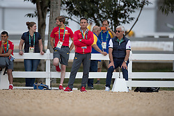 Luis Lucio, ESP, Ton de Ridder, GER<br /> Trainer French Dressage team<br /> Olympic Games Rio 2016<br /> © Hippo Foto - Dirk Caremans<br /> 04/08/16