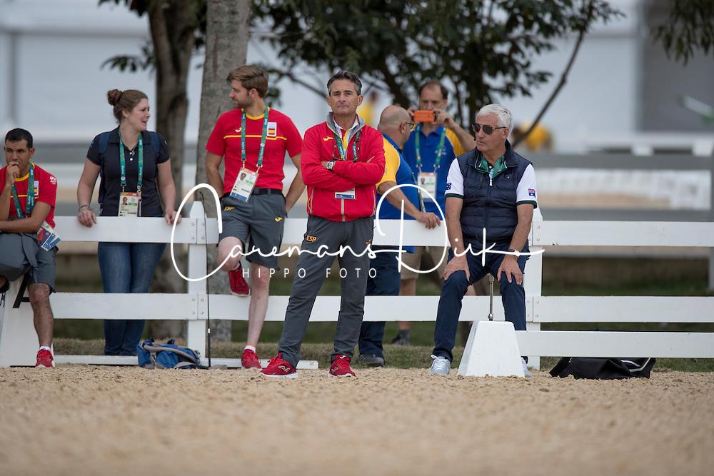 Luis Lucio, ESP, Ton de Ridder, GER<br /> Trainer French Dressage team<br /> Olympic Games Rio 2016<br /> © Hippo Foto - Dirk Caremans<br /> 04/08/16