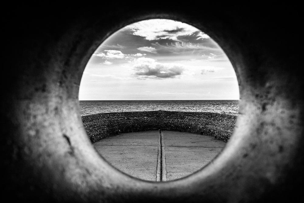 Where. Brighton U.K.<br /> What? A view of the sea through a sculpture.
