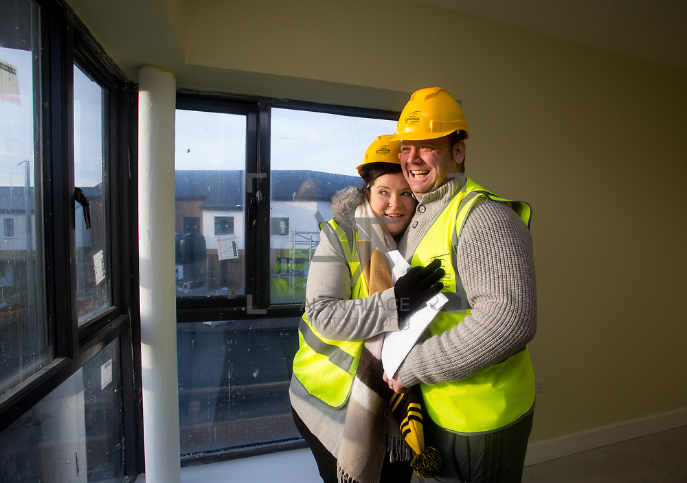 18.12.2017          <br /> Viewing their new home in the development site at the Lord Edward Street Social Housing Scheme were, Christina and Ger Doran. Picture: Alan Place