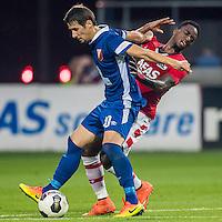 ALKMAAR - 25-08-2016, AZ - Vojvodina, AFAS Stadion, 0-0, Vojvodina speler Palocevic Aleksandar, AZ speler Ridgeciano Haps
