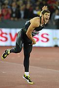 Andreas Hofmann (GER) wins the javelin at 300-0 (91.44m) during the Weltklasse Zurich in an IAAF Diamond League meeting at Letzigrund Stadium in Zurich, Switzerland on Thursday, August 30, 2018.(Jiro Mochizuki/Image of Sport)