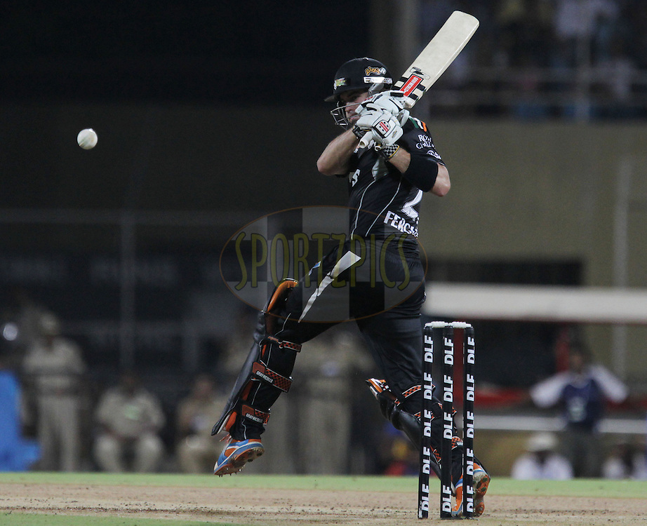 Pune Warriors player Callum Ferguson bats during match 65 of the Indian Premier League ( IPL ) Season 4 between the Pune Warriors and the Kolkata Knight Riders held at the Dr DY Patil Sports Academy, Mumbai India on the 19th May 2011..Photo by BCCI/SPORTZPICS