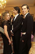 Stodhard, Felippo Olaechea and Rodrigo Olaechea. The 2005 Crillon Debutante Ball. Crillon Hotel, Paris. 26  November 2005. ONE TIME USE ONLY - DO NOT ARCHIVE  © Copyright Photograph by Dafydd Jones 66 Stockwell Park Rd. London SW9 0DA Tel 020 7733 0108 www.dafjones.com