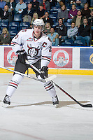 KELOWNA, CANADA, NOVEMBER 9: Tyson Ness #22 of the Red Deer Rebels skates on the ice as the Red Deer Rebels visit the Kelowna Rockets  on November 9, 2011 at Prospera Place in Kelowna, British Columbia, Canada (Photo by Marissa Baecker/Shoot the Breeze) *** Local Caption ***