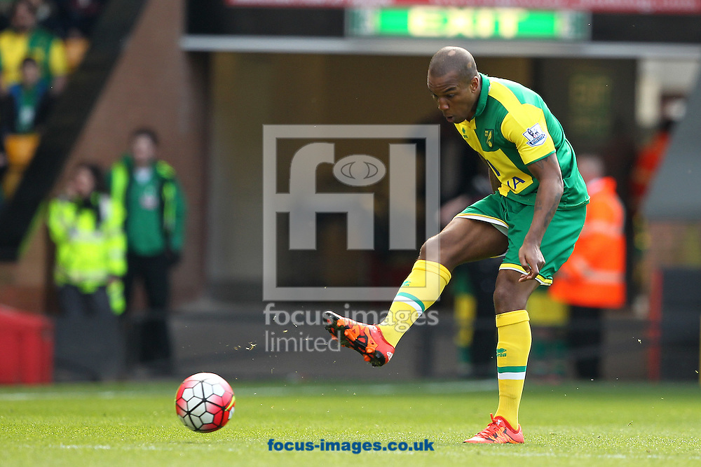 Andre Wisdom of Norwich in action during the Barclays Premier League match at Carrow Road, Norwich<br /> Picture by Paul Chesterton/Focus Images Ltd +44 7904 640267<br /> 02/04/2016