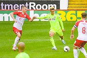 Sheffield United Callum Robinson (11) scores a goal to make the score 1-2 during the Pre-Season Friendly match between Barnsley and Sheffield United at Oakwell, Barnsley, England on 27 July 2019.