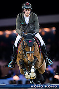 HONG KONG - FEBRUARY 21:  Oliver Philippaerts of Belgium rides Henna de Goedereede during the Massimo Dutti Trophy as part of the 2016 Longines Masters of Hong Kong on February 21, 2016 in Hong Kong, Hong Kong.  (Photo by Aitor Alcalde Colomer/Getty Images)