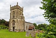 Village parish church of Saint Nicholas, Fyfield, Wiltshire, England, UK