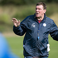 St Johnstone Training….09.09.16<br />Manager Tommy Wright pictured during training this morning at McDiarmid Park ahead of tomorrow's game at Partick Thistle.<br />Picture by Graeme Hart.<br />Copyright Perthshire Picture Agency<br />Tel: 01738 623350  Mobile: 07990 594431