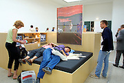 "VENICE, ITALY..49th Biennale of Venice.Pavillion of the Czech and Slovak Republics..Project ""Invitation for a Visit"", 2001, by Ilona NeÃÅmeth and Jiri Suruvka..(Photo by Heimo Aga)"