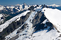 Icy Peak (7073 feet, 2156 meters) seen from the summit of Ruth Mountain, North Cascades Washington