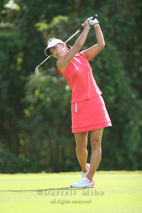 February 18, 2006; Kahuku, HI - Grace Park tees off during the final round of the LPGA SBS Open at Turtle Bay Resort...Mandatory photo credit: Darrell Miho.© Darrell Miho