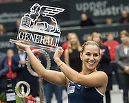 Dominika Cibulkova (SVK) wins the final of the WTA Generali Ladies Linz Open at TipsArena, Linz<br /> Picture by EXPA Pictures/Focus Images Ltd 07814482222<br /> 16/10/2016<br /> *** UK &amp; IRELAND ONLY ***<br /> <br /> EXPA-REI-161016-5034.jpg