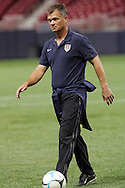 Oct 12 2007:  Greg Ryan, Head Coach of the US WNT.  The US Women's National Team practiced at the Edward Jones Dome in St. Louis for their friendly match against the Women's National Team of Mexico on October 13th.