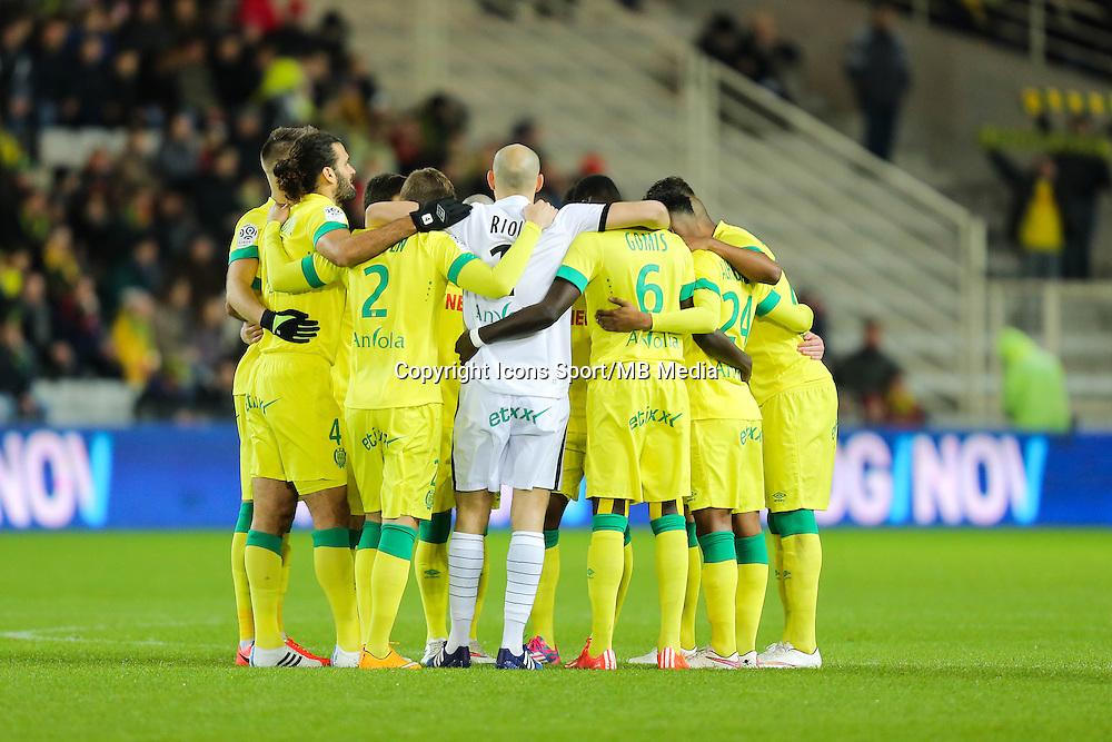 Groupe Nantes - Hommage Jean CLERFEUILLE - 31.01.2015 - Nantes / Lille - 23eme journee de Ligue 1 -<br />Photo : Vincent Michel / Icon Sport
