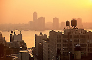 New York. elevated view on Chelsea, and Hudson river  at sunset , New jersey   /  Chelsea, l'Hudson, New jersey