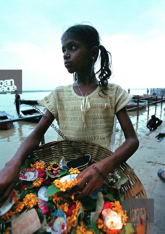 Flower Girl - Varanasi Ghats