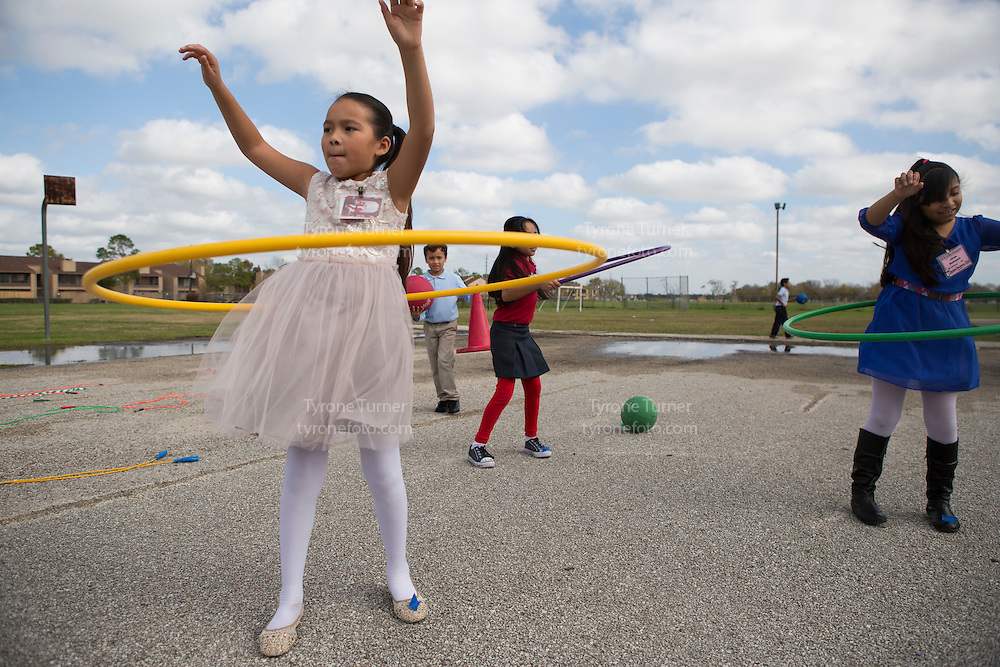 Playworks<br /> <br /> <br /> Chambers Elementary School<br /> 10700 Carvel Ln., <br /> Houston, TX 77072<br /> <br /> <br /> 3rd grade recess<br /> <br /> Pic of kids with RWJF release- 4112,4109,4082